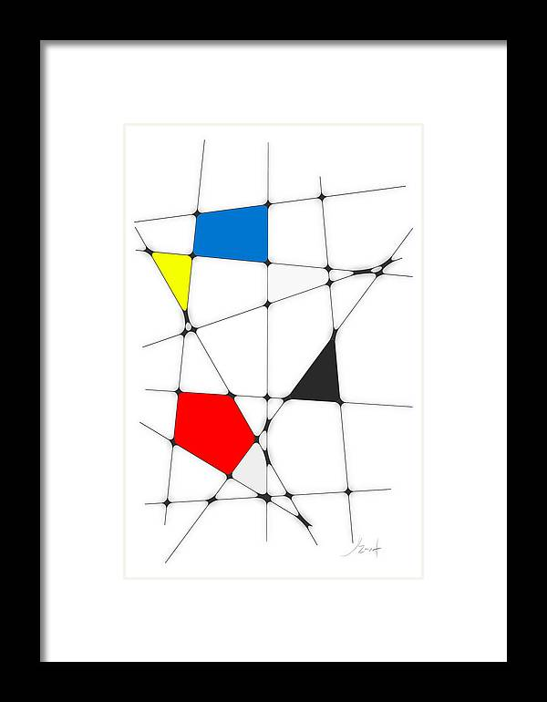 John Emmett Framed Print featuring the digital art neoplasticism 10 I by John WR Emmett