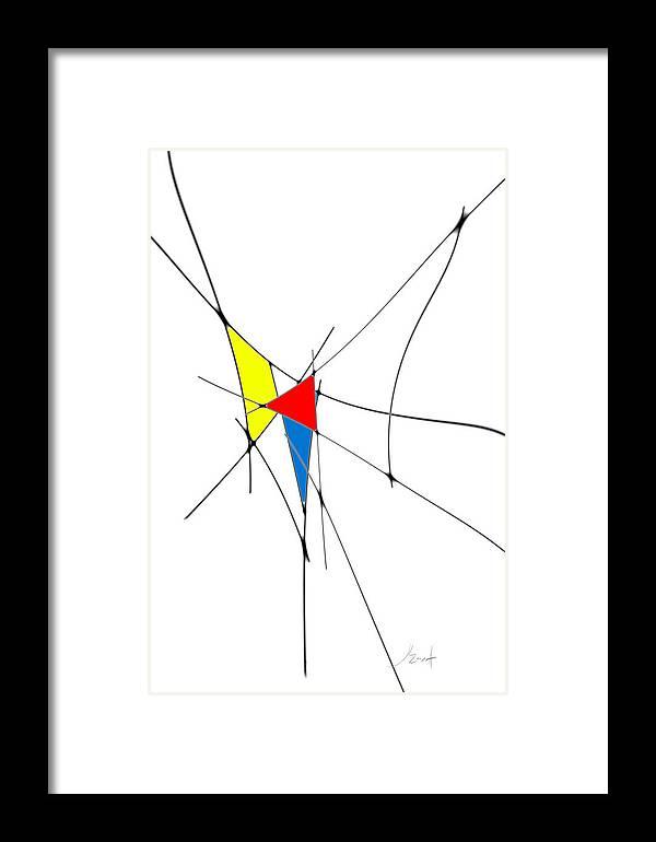 John Emmett Framed Print featuring the digital art neoplasticism 11 II by John WR Emmett