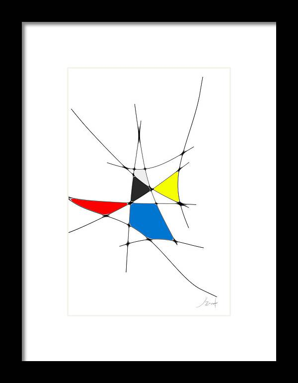 John Emmett Framed Print featuring the digital art neoplasticism 11 IV by John WR Emmett