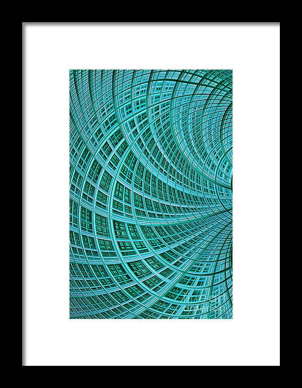 Mesh Framed Print featuring the digital art Network by John Edwards