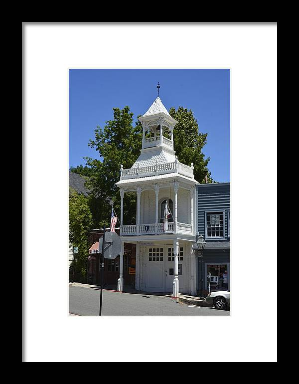Fire Framed Print featuring the photograph Nevada City Fire House by William Hallett