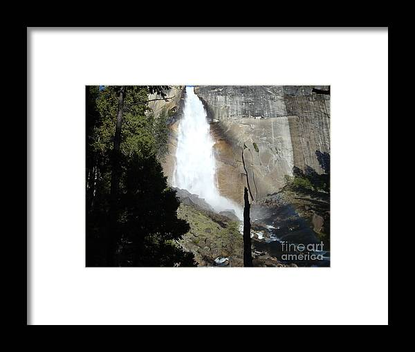 Nevada Falls Yosemite Framed Print featuring the photograph Nevada Falls by Ty Laffoon