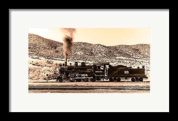 Train Framed Print featuring the photograph Nevada Northern Railway by Robert Bales