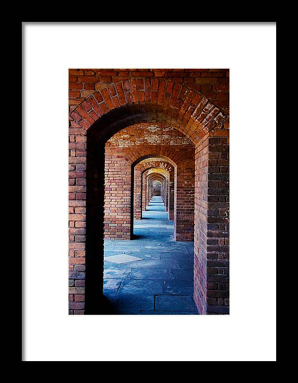 Brick Framed Print featuring the photograph Never Ending Doors by Stephie Carr