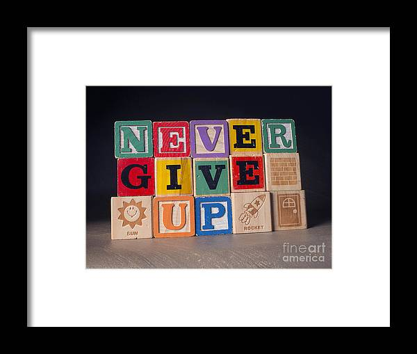 Never Give Up Framed Print featuring the photograph Never Give Up by Art Whitton