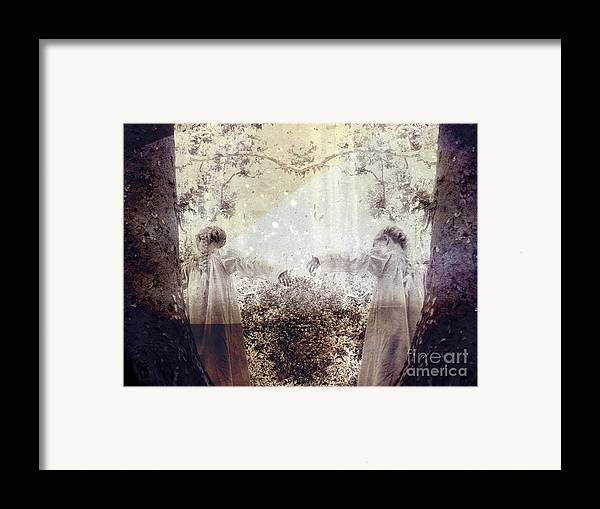 Fantasy Framed Print featuring the photograph Never Grow Up by Ellen Cotton