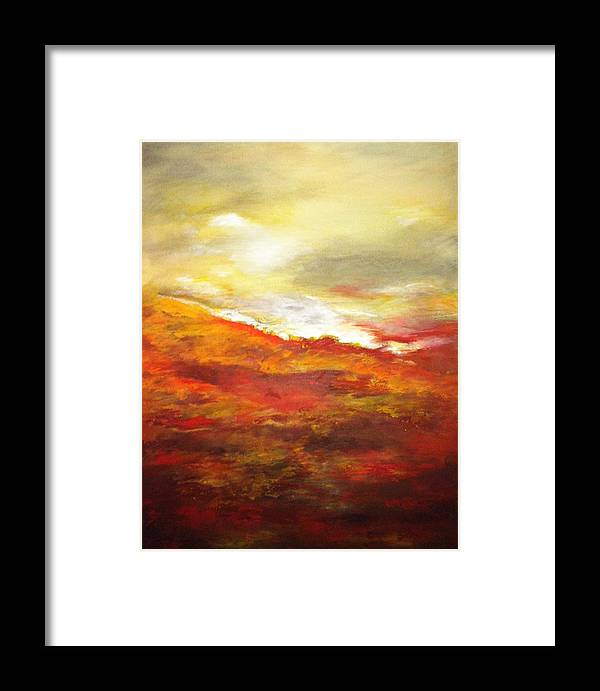 Abstract Framed Print featuring the painting New Beginnings by Marina Hanson