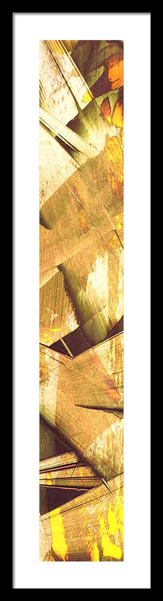 Abstract Framed Print featuring the painting New Boundaries 6 B by Brian Allan