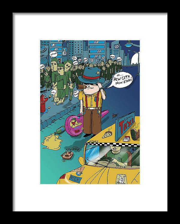 New Framed Print featuring the digital art New City by Murni Ch