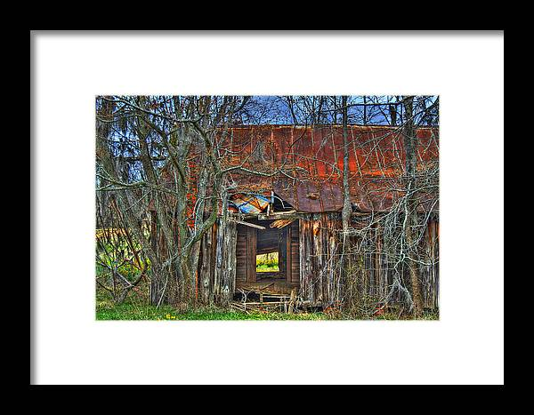 Barn Framed Print featuring the photograph New Color On An Old Canvas by Durward Henderson