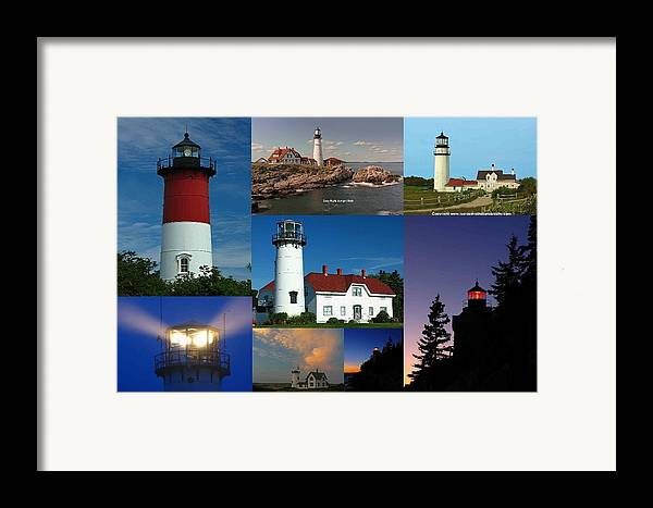 Lighthouse Framed Print featuring the photograph New England Lighthouse Collection by Juergen Roth
