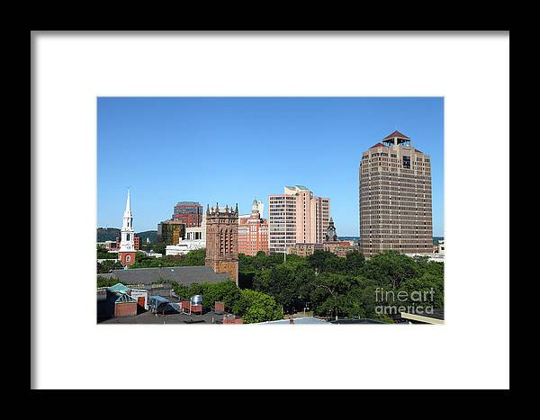 Framed Print featuring the photograph New Haven Connecticut by Denis Tangney Jr