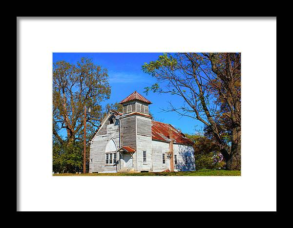 History Framed Print featuring the photograph New Hope Mb Church Estill Ms by Karen Wagner
