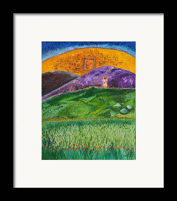 Art-by-cassie Sears Framed Print featuring the painting New Jerusalem by Cassie Sears