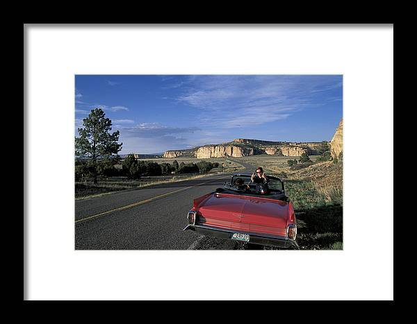 Highway Framed Print featuring the photograph New Mexico by Christian Heeb