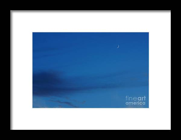 Moon Framed Print featuring the photograph New Moon by Jeffery L Bowers