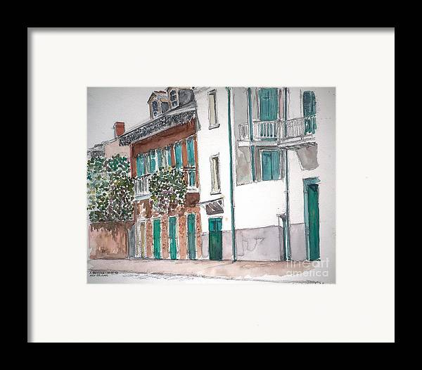 Louisiana Framed Print featuring the painting New Orleans Gov. Nichols And Royal St by Anthony Butera