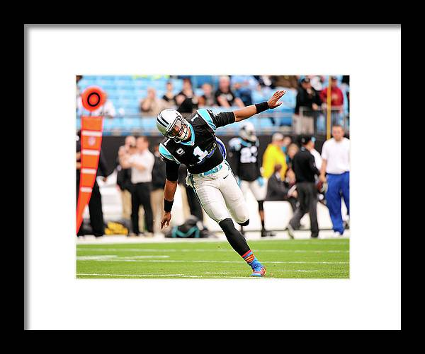 North Carolina Framed Print featuring the photograph New Orleans Saints V Carolina Panthers by Grant Halverson