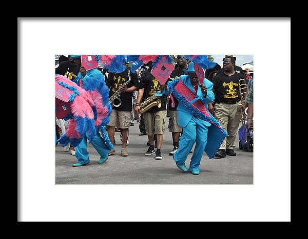 New Orleans Framed Print featuring the photograph New Orleans Second Line by Diane Lent