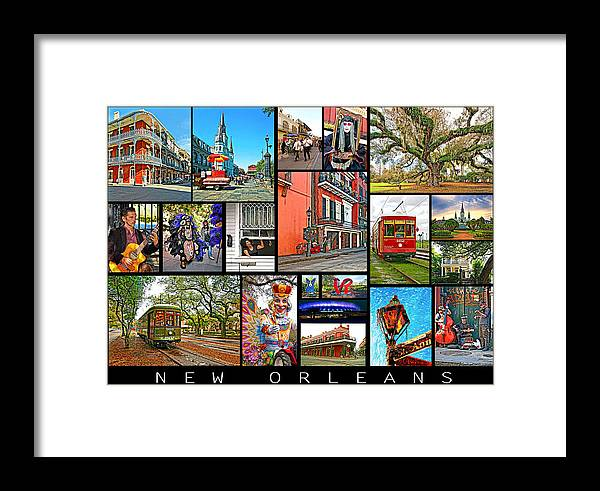 New Orleans Framed Print featuring the photograph New Orleans by Steve Harrington