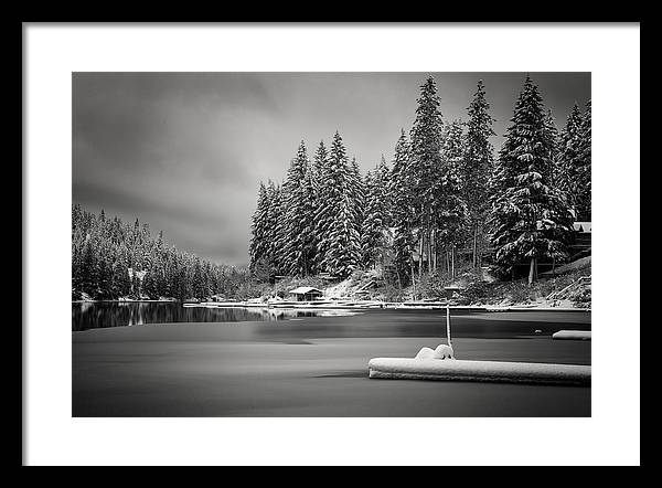 Landscape Framed Print featuring the photograph New Snow by Johnny Gregg