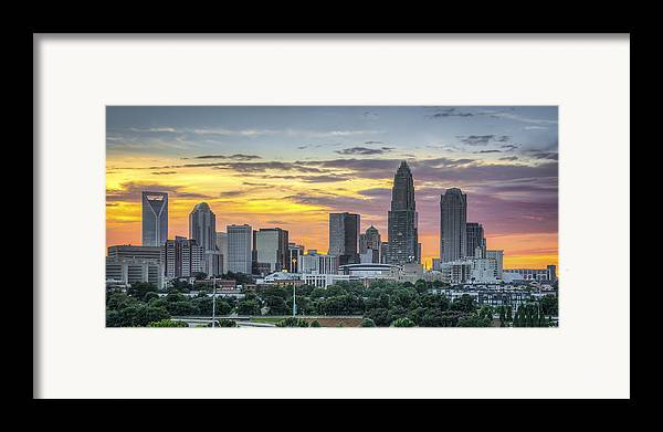 Charlotte Framed Print featuring the photograph New South Summer Sunset by Brian Young