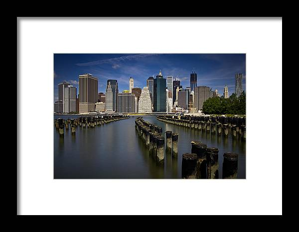 New York Framed Print featuring the photograph New York - Skyline by Amador Esquiu Marques