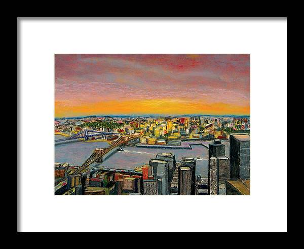 Cityscape Framed Print featuring the painting New York 38 by Karin Batten