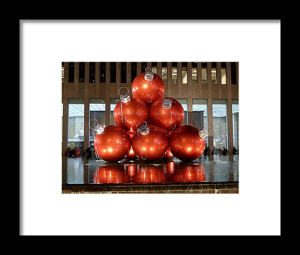 New York City Framed Print featuring the photograph New York City Baubles by Richard Reeve