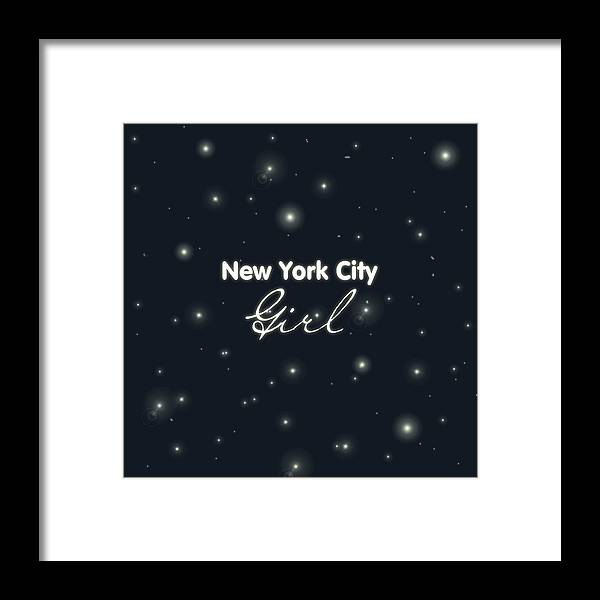 New York City Girl Framed Print featuring the digital art New York City Girl by Pati Photography