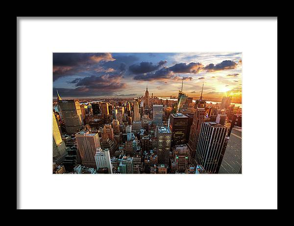 Tranquility Framed Print featuring the photograph New York City Skyline by Dominic Kamp Photography