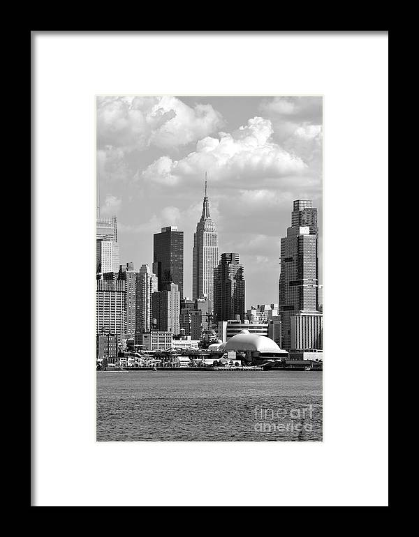 New York City Skyline With Space Shuttle Dome And Empire State ...
