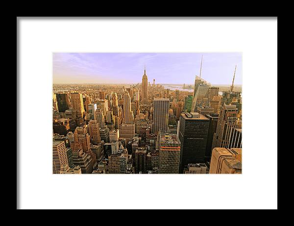 Lower Manhattan Framed Print featuring the photograph New York City Xxxl by Bezov