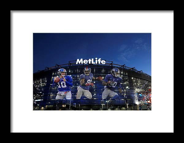 Giants Framed Print featuring the photograph New York Giants Metlife Stadium by Joe Hamilton