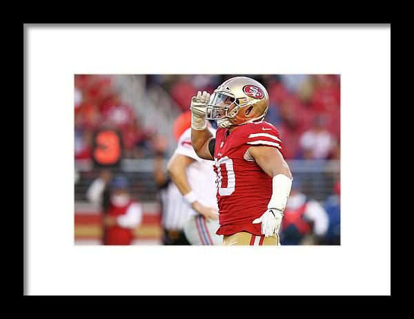 Three Quarter Length Framed Print featuring the photograph New York Giants V San Francisco 49ers by Ezra Shaw