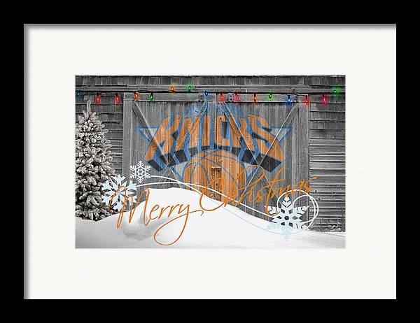 Knicks Framed Print featuring the photograph New York Knicks by Joe Hamilton