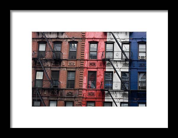 Buildings Framed Print featuring the photograph New York by Marta Grabska-Press