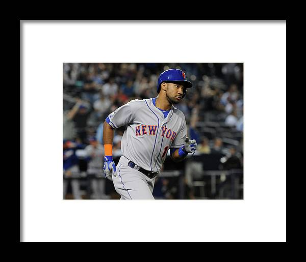 American League Baseball Framed Print featuring the photograph New York Mets V New York Yankees by Christopher Pasatieri