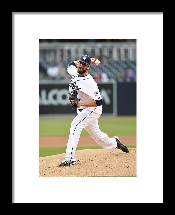 People Framed Print featuring the photograph New York Mets V San Diego Padres by Denis Poroy