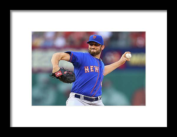 St. Louis Framed Print featuring the photograph New York Mets V St. Louis Cardinals by Dilip Vishwanat