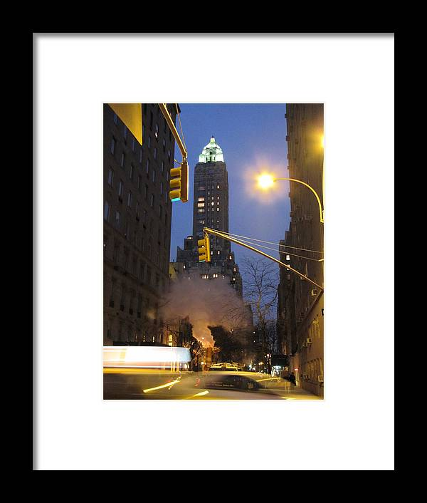New York Framed Print featuring the photograph New York Night by Elizabeth Hardie
