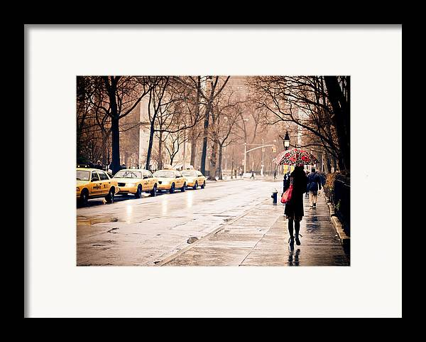 New York City Framed Print featuring the photograph New York Rain - Greenwich Village by Vivienne Gucwa