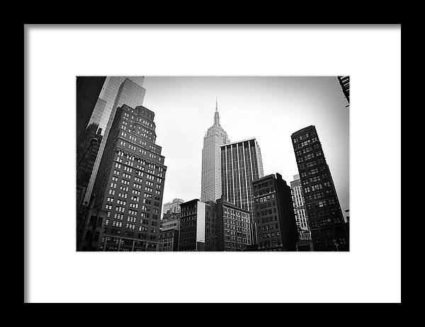 New York Framed Print featuring the photograph New York Skyline by Todd Hartzo