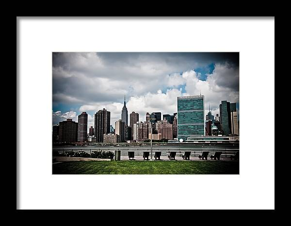 Nyc Framed Print featuring the photograph New York Skyline by Vitaly Levin