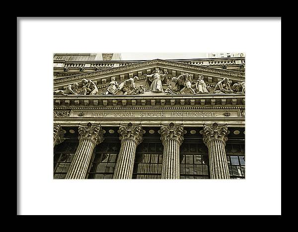 New York Stock Exchange Framed Print featuring the photograph New York Stock Exchange by Garry Gay