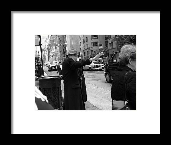 Architecture Framed Print featuring the photograph New York Street Photography 27 by Frank Romeo