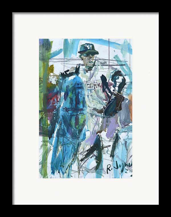 Art Framed Print featuring the mixed media New York Yankees Artwork by Robert Joyner