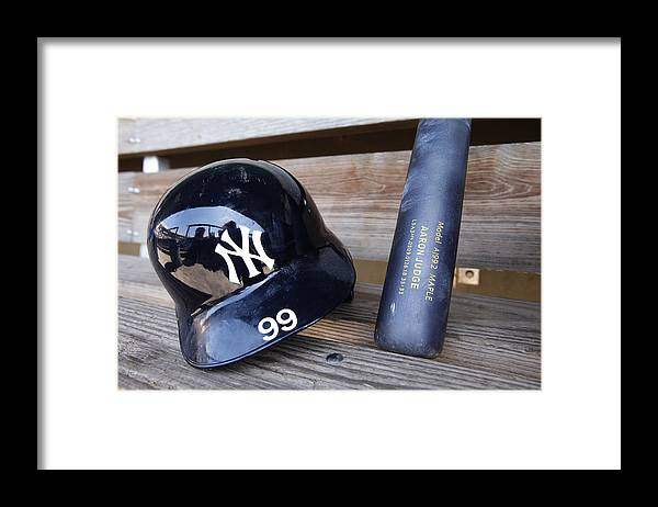 Headwear Framed Print featuring the photograph New York Yankees v Baltimore Orioles by Mike McGinnis