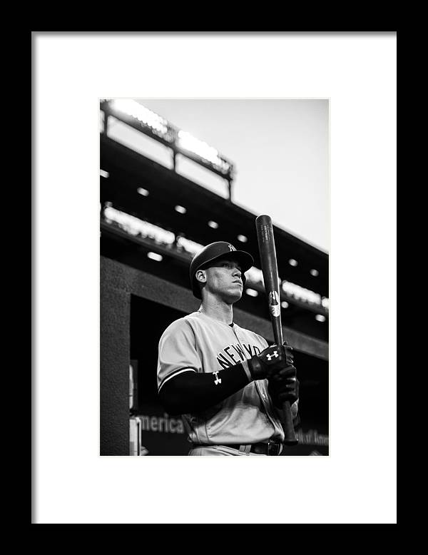 People Framed Print featuring the photograph New York Yankees v Baltimore Orioles by Rob Tringali/Sportschrome