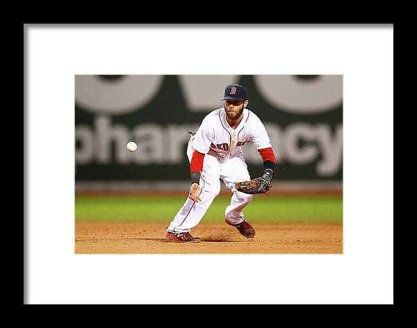 American League Baseball Framed Print featuring the photograph New York Yankees V Boston Red Sox by Jared Wickerham